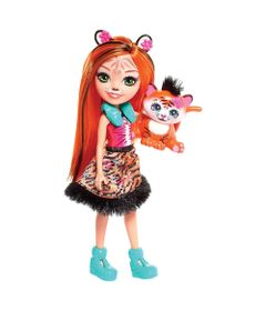 Boneca-Fashion-e-Animal---Enchantimals---Tanzie-Tiger-e-Tuft---Mattel