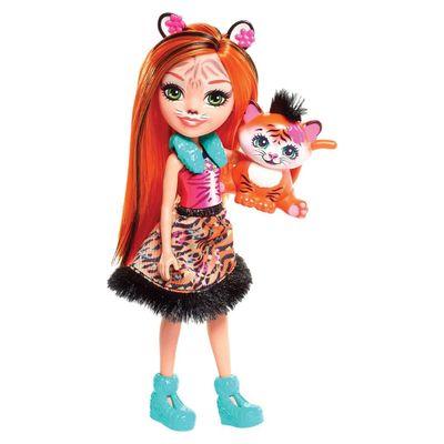 Boneca-Fashion-e-Animal---Enchantimals---Tanzie-Tiger-e-Tuft---Mattel