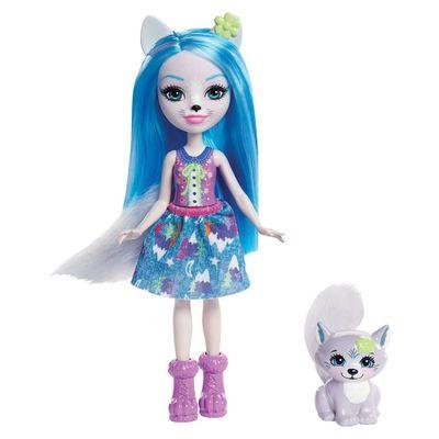 Boneca-Fashion-e-Animal---Enchantimals---Winsley-Wolf-e-Trooper---Mattel