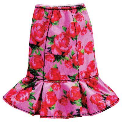 Roupinhas-e-Acessorios---Barbie---Saia-Floral-Rosa---Mattel