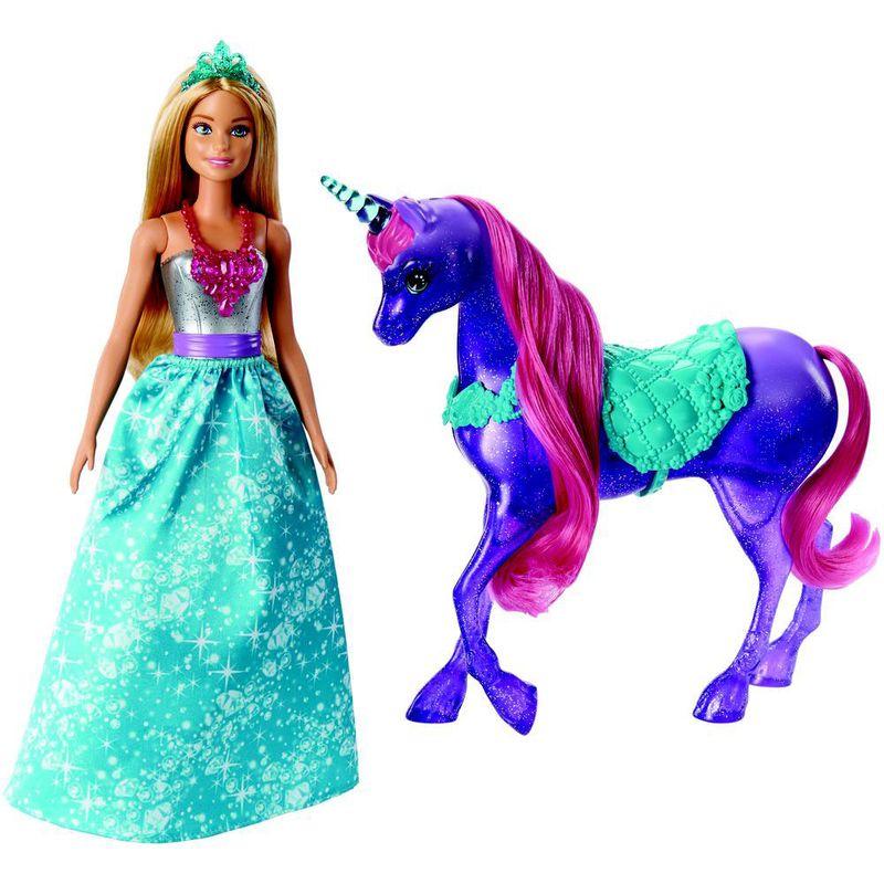 3be39672ca Boneca Barbie - Barbie Dreamtopia - Barbie e Unicórino - Mattel - Ri Happy  Brinquedos