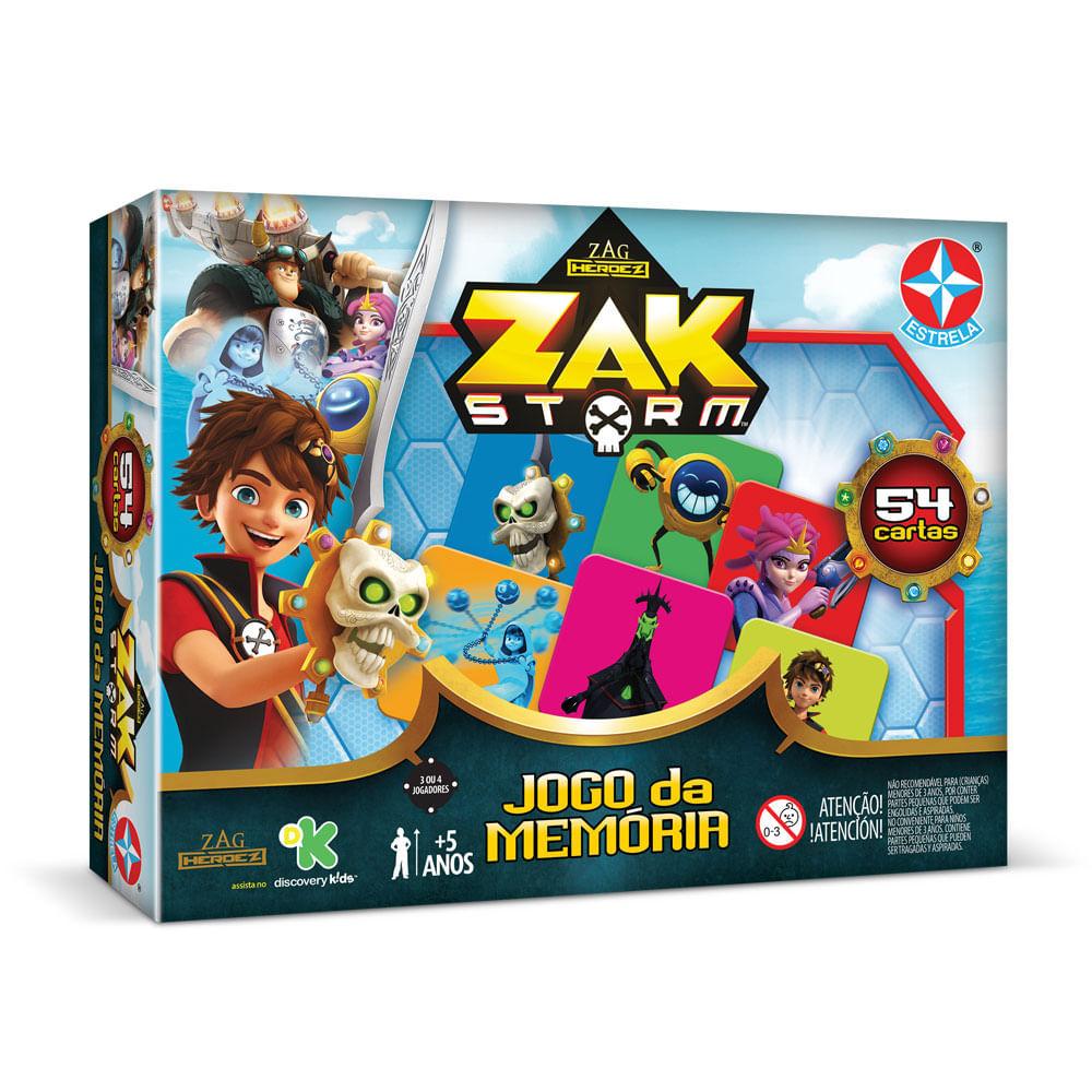 Jogo da Memória - Zak Storm - Estrela
