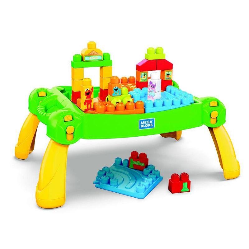 7e627d9666 Mesa de Atividade e Blocos de Montar - Mega Bloks - Vila Sésamo -  Fisher-Price - Ri Happy Brinquedos