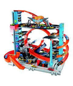 Pista-e-Veiculo---Hot-Wheels---City---Mega-Garagem---Mattel