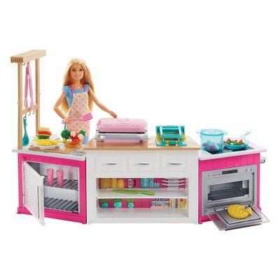 Playset-e-Boneca---Barbie---Cozinha-de-Luxo-da-Barbie---Mattel