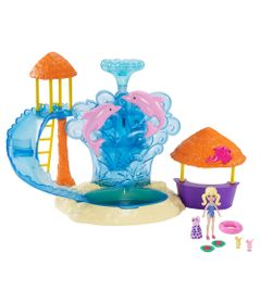 Playset-e-Mini-Boneca---Polly-Pocket---Parque-Aquatico-e-Golfinhos---Mattel