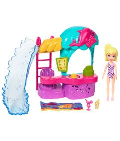 Playset-e-Mini-Boneca---Polly-Pocket---Quiosque-do-Parque-Aquatico---Mattel