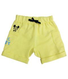 Bermuda-Moletinho---Amarelo-Claro---Mickey-Mouse---Disney---M