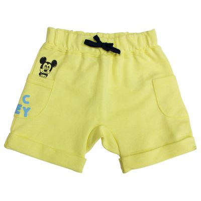 Bermuda-Moletinho---Amarelo-Claro---Mickey-Mouse---Disney---P
