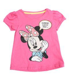 Blusa-Manga-Curta---Meia-Malha---Rosa-Glitter---Minnie-Mouse---Disney---1