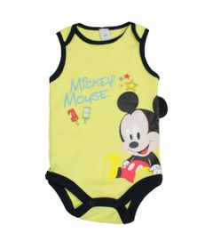 Body-Regata-em-Suedine---Amarelo-Claro---Mickey-Mouse---Disney---M