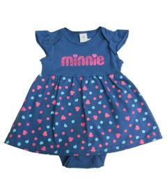 Body-Vestido-Estampado---Azul-Jeans---Minnie-Mouse---Disney---G