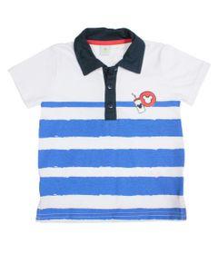 Camisa-Polo-Manga-Curta---Branco-e-Azul-Marinho---Mickey-Mouse---Disney---1