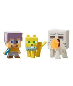 Figuras-Minecraft---Pack-com-3---Serie-5-Gelo---Steve---Jaguatirica---Attacking-Ghast---Mattel