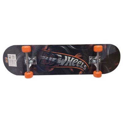 Skate com Acessórios - Hot Wheels - Preto e Laranja - Barão Toys