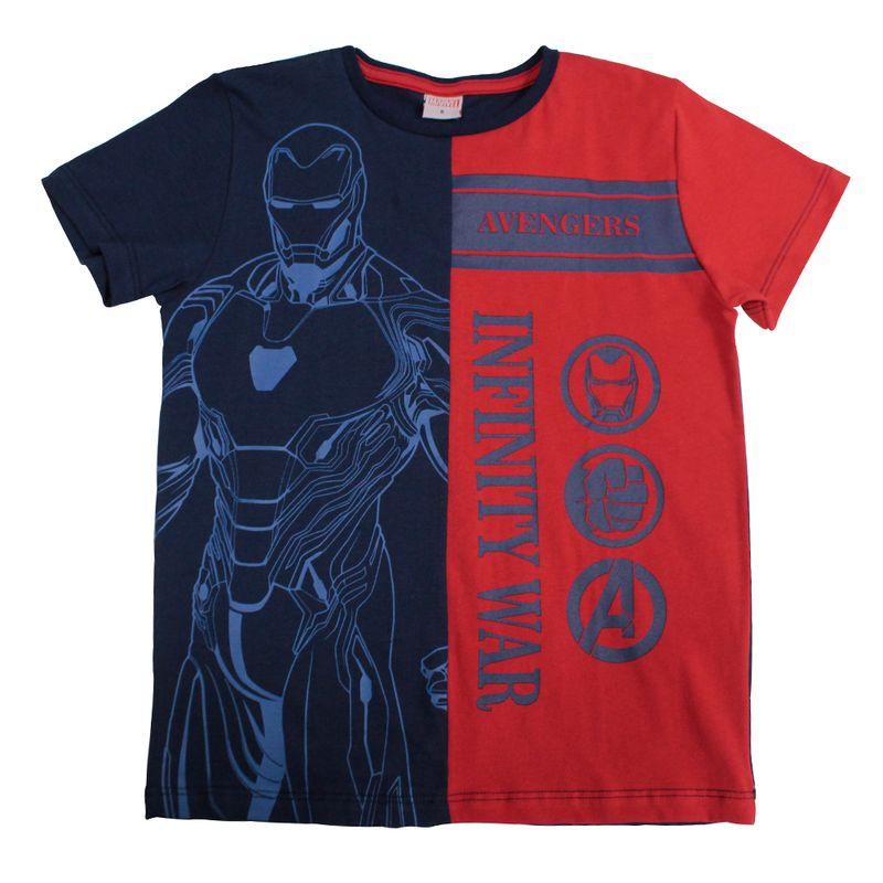 b37d7f5c07 Camiseta Manga Curta - Meia Malha - Azul e Vermelho - Marvel - Iron Man -  Disney - Ri Happy Brinquedos