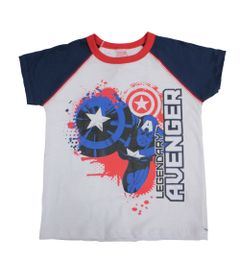 Camiseta-Manga-Curta---Meia-Malha---Branco-Azul-e-Vermelho---Marvel---Capitao-America---Disney---8