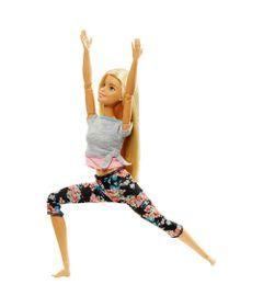 Boneca-Barbie---Feita-para-Mexer---Aula-de-Yoga---Blusa-Cinza-e-Rosa---Mattel