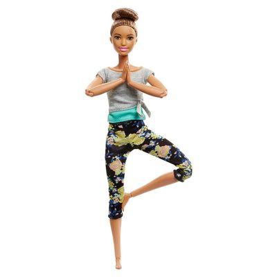 Boneca-Barbie---Feita-para-Mexer---Aula-de-Yoga---Blusa-Cinza-e-Verde---Mattel