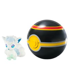 Mini-Figura-Pokemon---Alolan-Vulpix-e-Luxury-Ball---Sunny