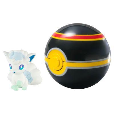 Mini-Figura-Pokemon---Alolan-Vulpix-e-Luxury-Ball---Sunny