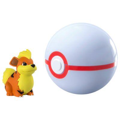 Mini-Figura-Pokemon-e-Pokebola-com-Clip---Growlithe-e-Premier-Ball---Sunny