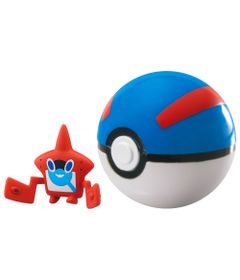 Mini-Figura-Pokemon-e-Pokebola-com-Clip---Rorom-Pokedex-e-Great-Ball---Sunny