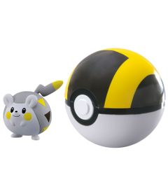 Mini-Figura-Pokemon-e-Pokebola-com-Clip---Togedemaru-e-Ultra-Ball---Sunny