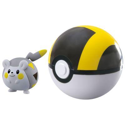 Mini-Figura-Pokemon-e-Pokebola-com-Clip---Togedemaru-e-Ultra-Ball---Sunny