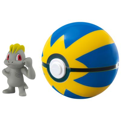 Mini-Figura-Pokemon---Machop-e-Quick-Ball---Sunny