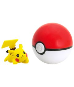 Mini-Figura-Pokemon---Pikachu-e-Poke-Ball---Sunny