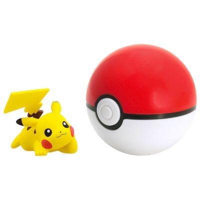 Mini-Figura-Pokemon---Pikachu-e-Poke-Ball---Sunny