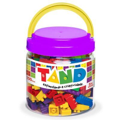 Pote-com-Blocos-de-Montar-Tand-Kids---150-Pecas---Pote-Roxo---Toyster