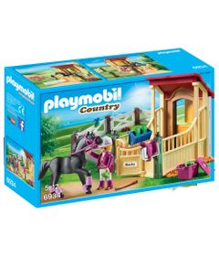Playmobil-Country---Cavaleiro-com-Estabulo---Blacky---6934---Sunny