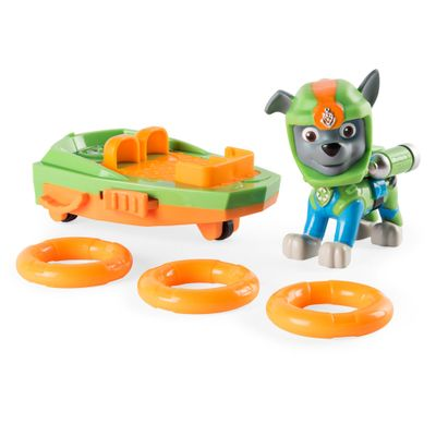 Veiculo-e-Figura---Patrulha-Canina---SeaPatrol---Rocky---Sunny
