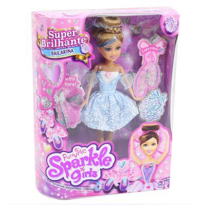 Boneca-Articulada-com-Acessorios---Funville-Sparkle-Girlz---Bailarina---Marie-vestido-Azul---DTC