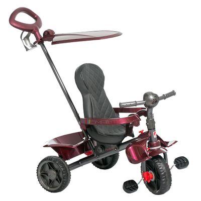 Triciclo-de-Passeio---Smart---Reclinavel---Vinho---Bandeirante_Frente