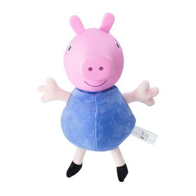 Pelucia-30-Cm-com-Cabeca-de-Vinil---Peppa-Pig---George-com-Roupa-Azul---Estrela