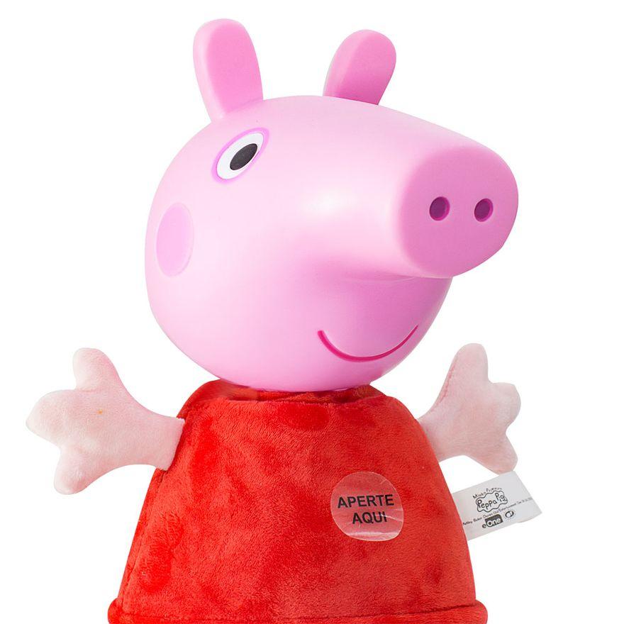 Pelucia-com-Sons---30-Cm-com-Cabeca-de-Vinil---Peppa-Pig---Peppa---Estrela