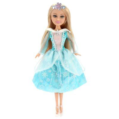 Boneca-e-Acessorios---Sparkle-Girlz---Winter-Princess---Loira-com-Vestido-Azul---DTC