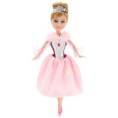 Boneca-e-Acessorios---Sparkle-Girlz---Winter-Princess---Loira-com-Vestido-Rosa---DTC