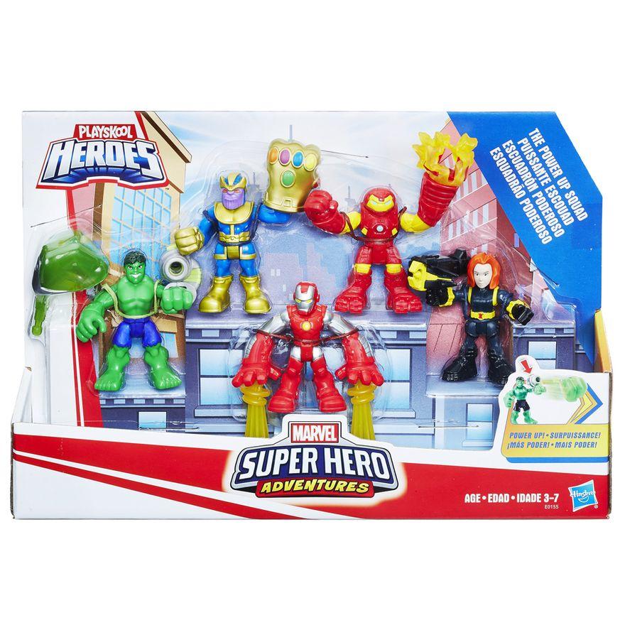 Conjunto-de-Mini-Figuras---Playskool-Heroes---Marvel-Super-Heroes---Esquadrao-Poderoso---Hasbro