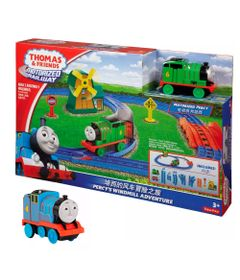 Kit-Playset-e-Mini-Veiculos---Thomas---Friends---Percy-e-o-Moinho-de-Vento-com-Gordon---Fisher-Price