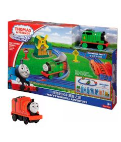 Kit-Playset-e-Mini-Veiculos---Thomas---Friends---Percy-e-o-Moinho-de-Vento-com-James---Fisher-Price
