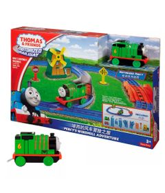 Kit-Playset-e-Mini-Veiculos---Thomas---Friends---Percy-e-o-Moinho-de-Vento-com-Percy---Fisher-Price