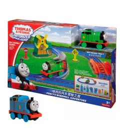 Kit-Playset-e-Mini-Veiculos---Thomas---Friends---Percy-e-o-Moinho-de-Vento-com-Thomas---Fisher-Price