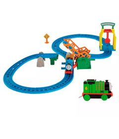 Kit-Playset-e-Mini-Veiculos---Thomas---Friends---Ponte-Levadica-e-Percy---Fisher-Price