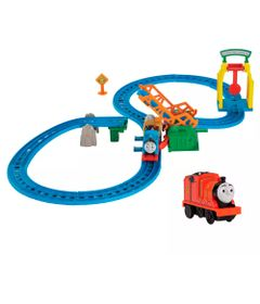 Kit-Playset-e-Mini-Veiculos---Thomas---Friends---Ponte-Levadica-e-James---Fisher-Price