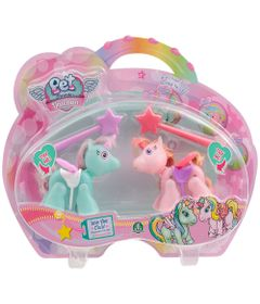 Mini-Bonecos---Pack-com-2---Pet-Parade---Unicornio---Azul-e-Rosa---Multikids