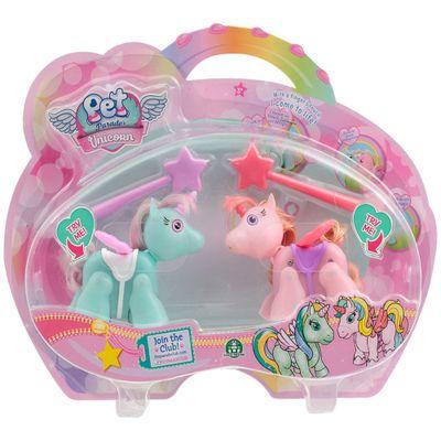 Mini-Bonecos---Pack-com-2---Pet-Parade---Unicornio---Azul-e-Rosa---Multikids